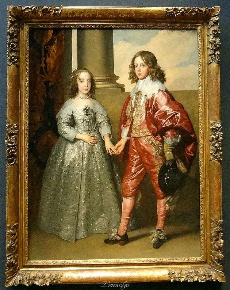 Портрет Вильгельма Оранского с его невестой Марией Стюарт   Энтони Ван Дейк