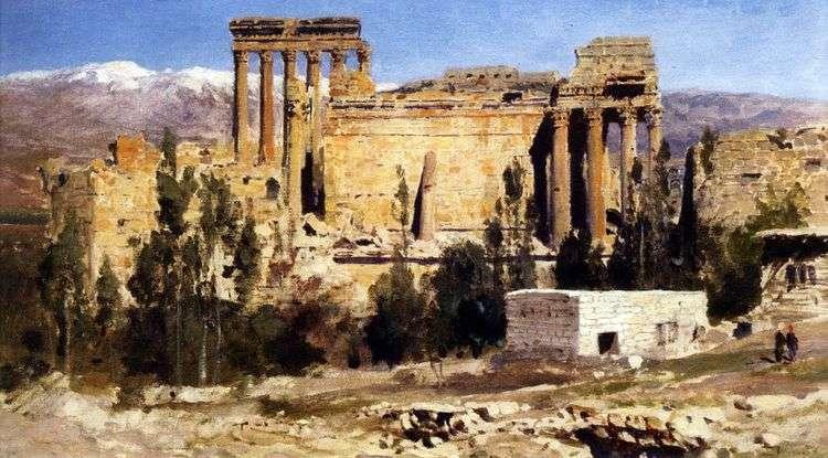 Баальбек. Развалины храма Юпитера и храма Солнца   Василий Поленов