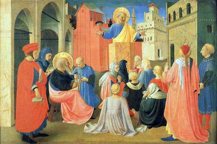 Святой Петр, диктующий Евангелие Святому Марку   Фра Беато Анджелико