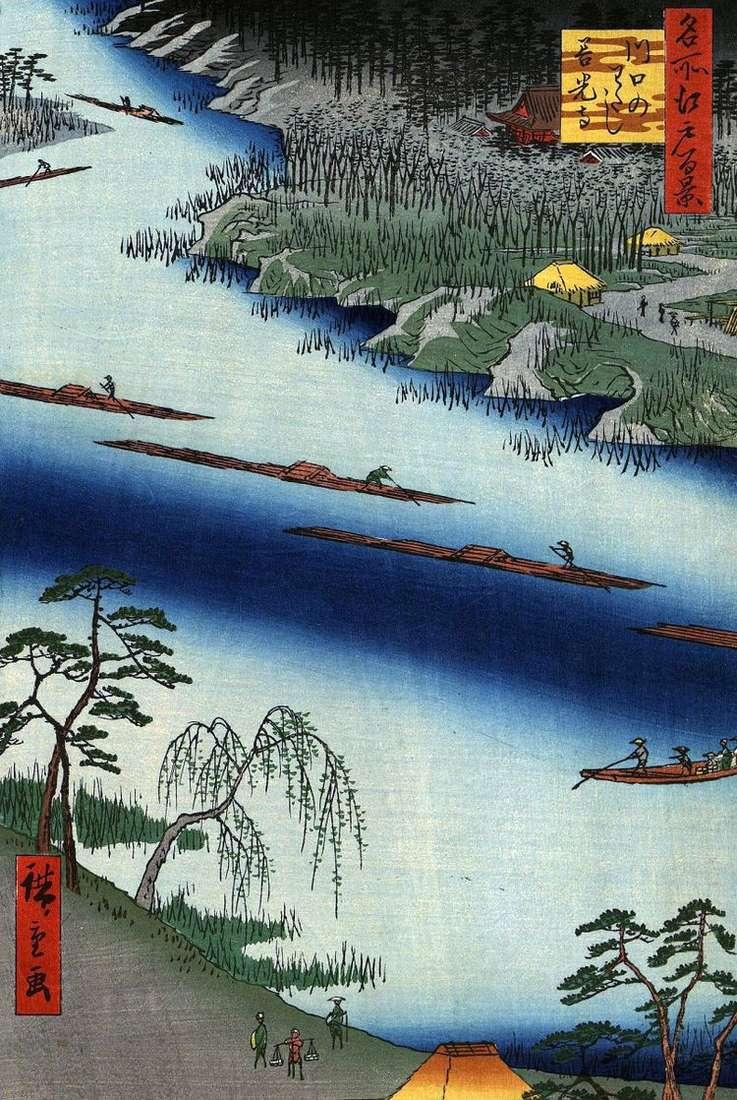 Монастырь Дзэнкодзи у переправы в Кавагути но ватаси