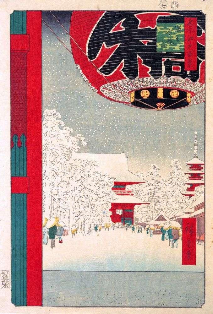 Монастырь Кинрюдзан в Асакуса   Утагава Хиросигэ