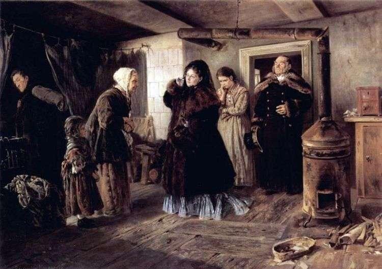 Посещение бедных   Владимир Маковский
