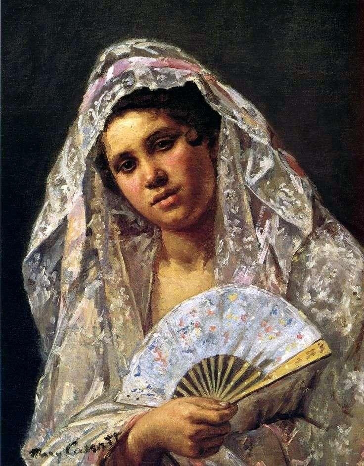 Испанская танцовщица в кружевной мантилье   Мэри Кассат