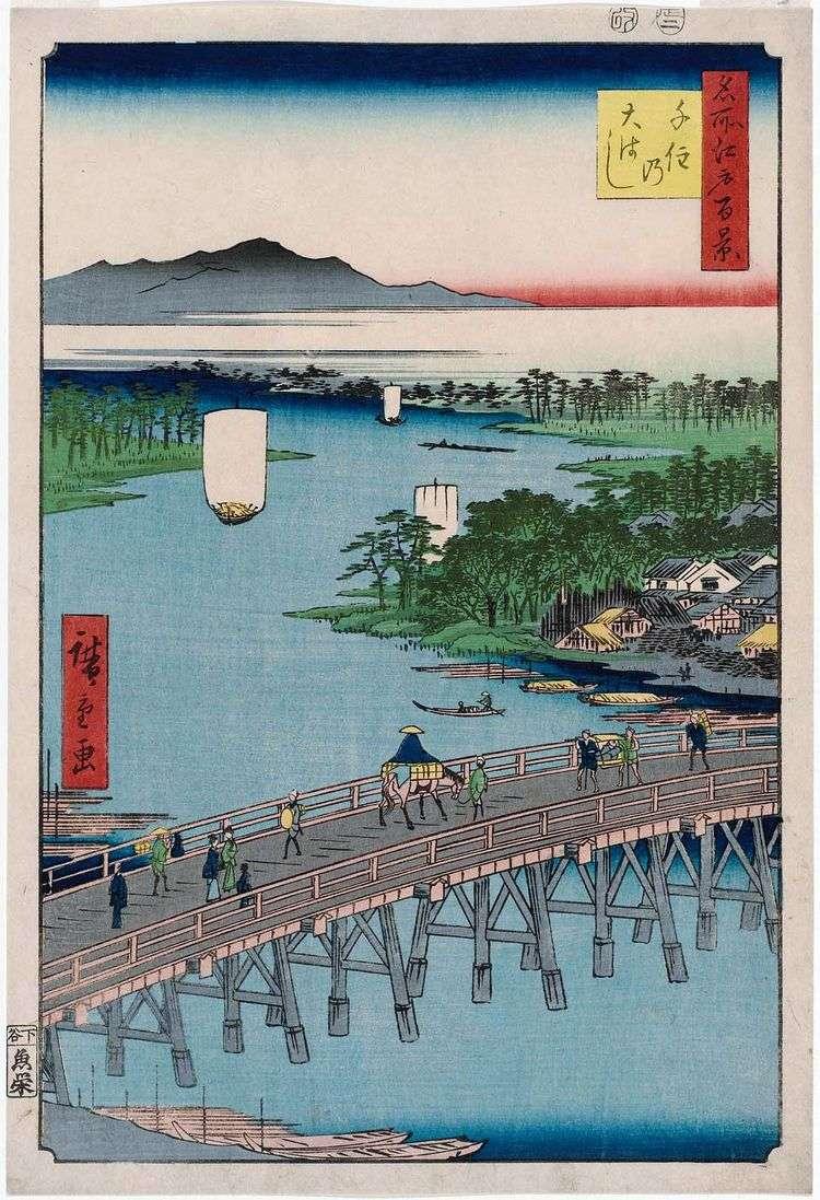 Мост Охаси в Сэндзю   Утагава Хиросигэ