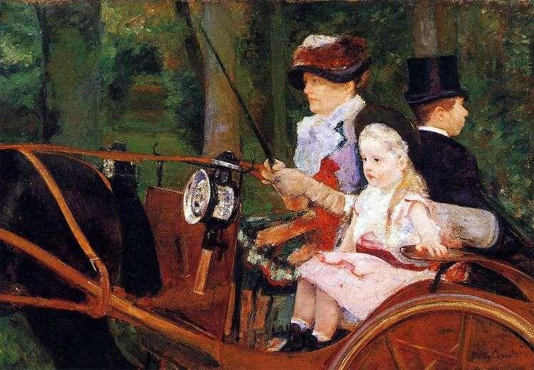 Мать и ребенок в повозке   Мэри Кассат