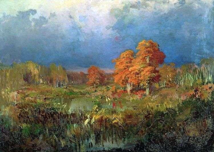 Болото в лесу. Осень   Федор Васильев