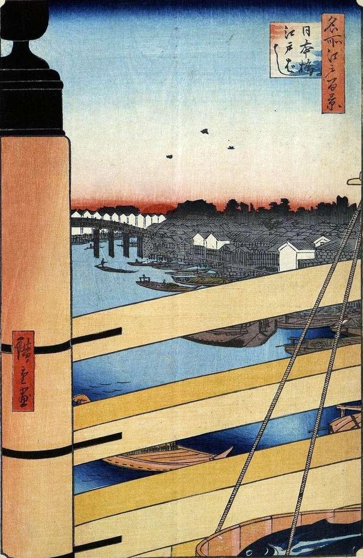 Мосты Нихонбаси и Эдобаси   Утагава Хиросигэ
