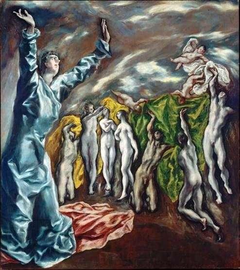 Открытие пятой печати   Эль Греко