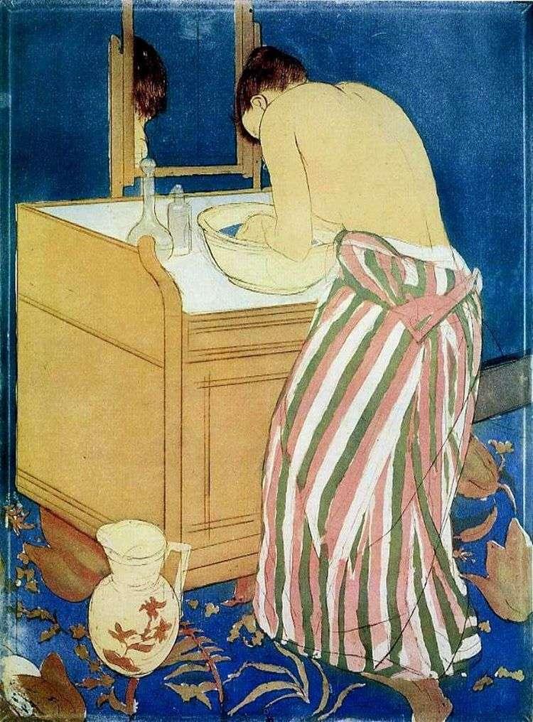 Умывающаяся женщина   Мэри Кассат