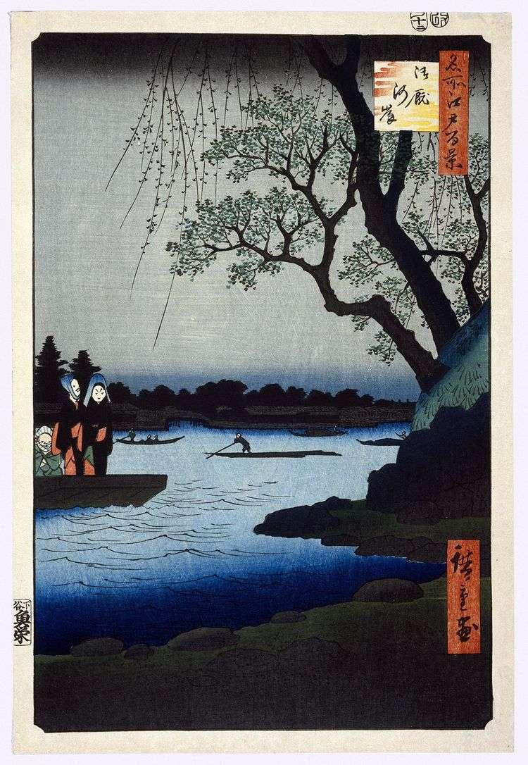 Набережная Оммаягаси   Утагава Хиросигэ