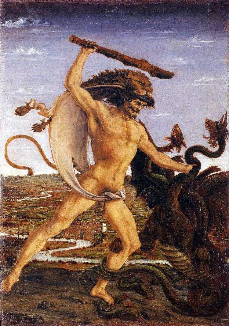 Геракл и гидра   Антонио дель Поллайоло