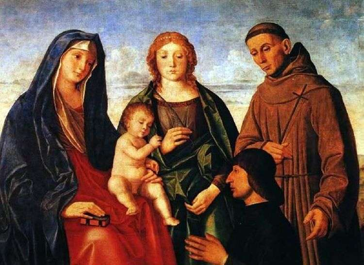 Мария с младенцем, святым Франциском Ассизским, Святой и Донатором   Винченцо Катена