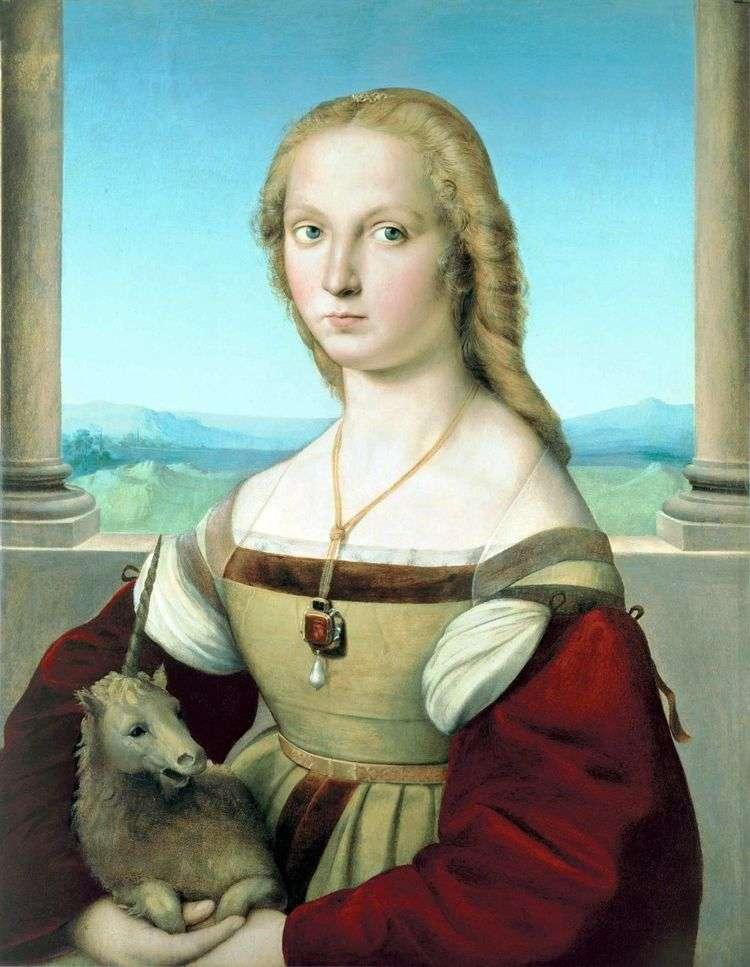 Портрет дамы с единорогом   Рафаэль Санти