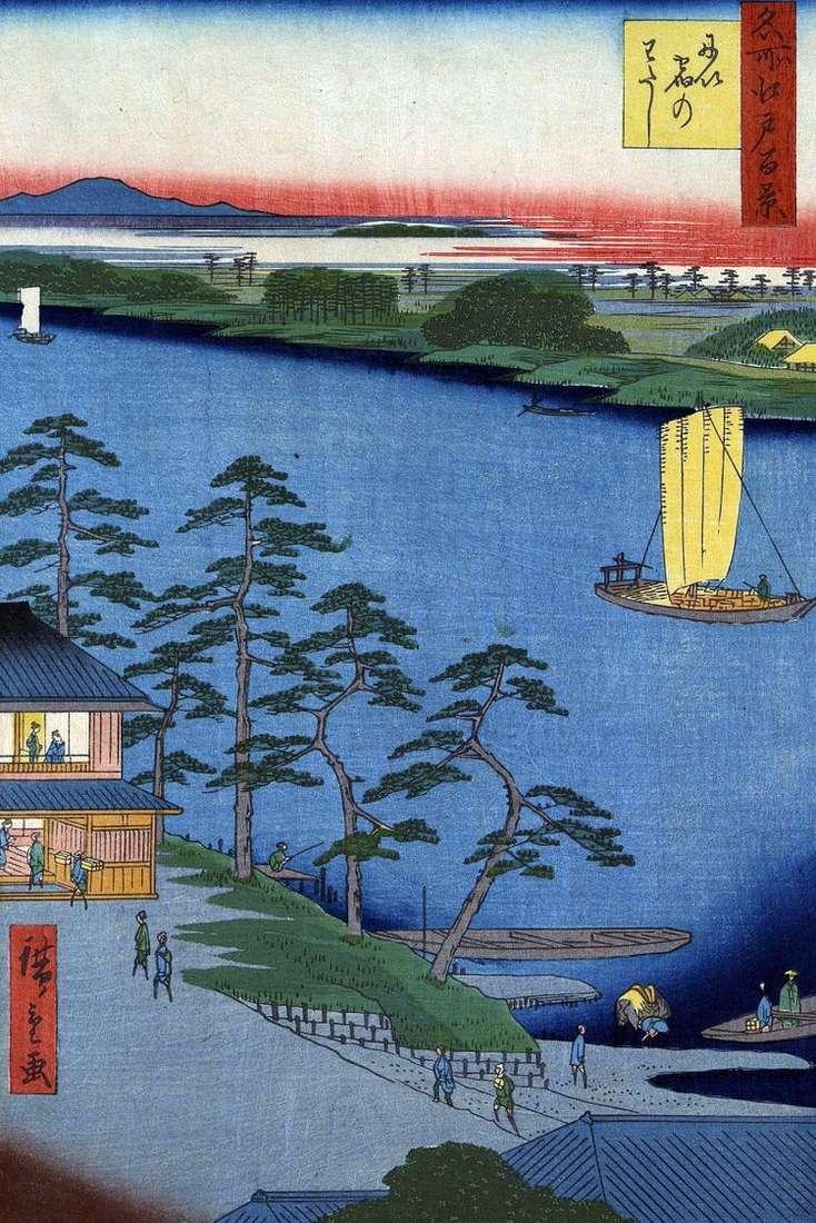Переправа Ниидзюку   Утагава Хиросигэ