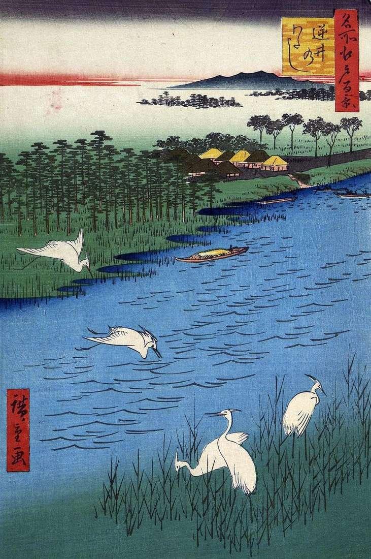 Переправа Сакасаи   Утагава Хиросигэ