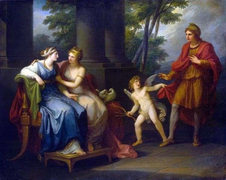 Венера представляет Елене Париса   Ангелика Кауфман
