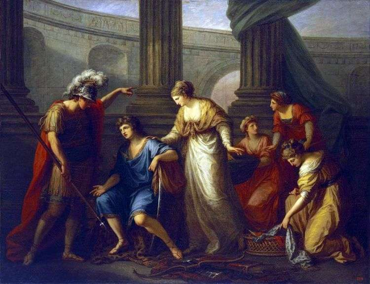 Гектор зовет Париса на битву   Ангелика Кауфман