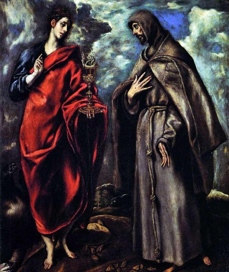 Святой Иоанн Евангелист и святой Франциск Ассизский   Эль Греко