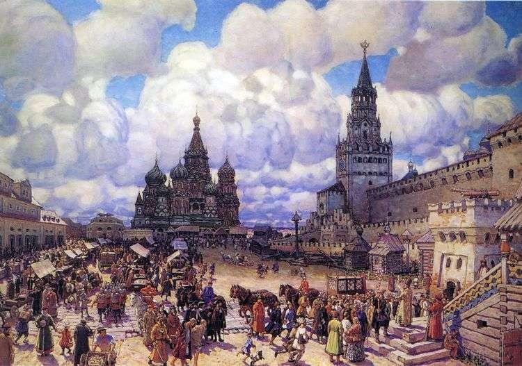 Красная площадь во второй половине XVII века   Аполлинарий Васнецов
