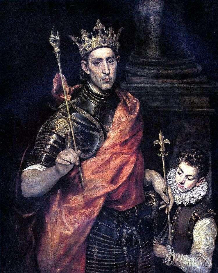 Святой Людовик, король Франции и паж   Эль Греко