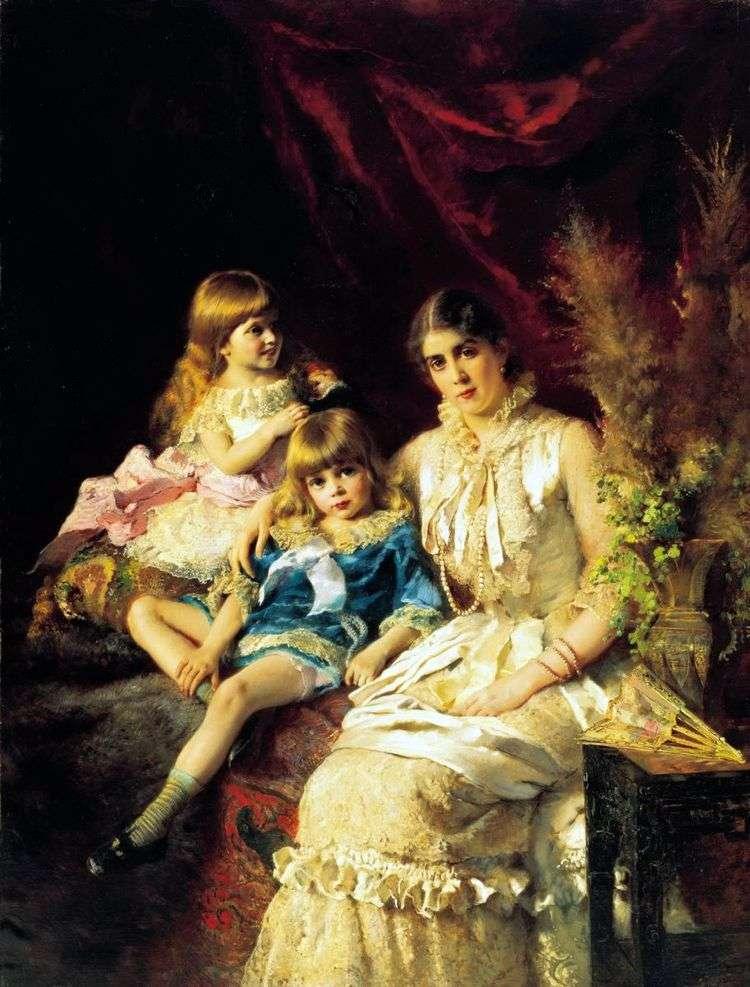 Семейный портрет   Константин Маковский