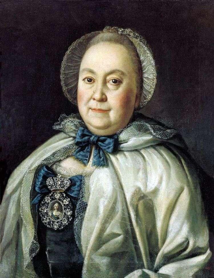 Портрет статс дамы Марии Андреевны Румянцевой   Алексей Антропов