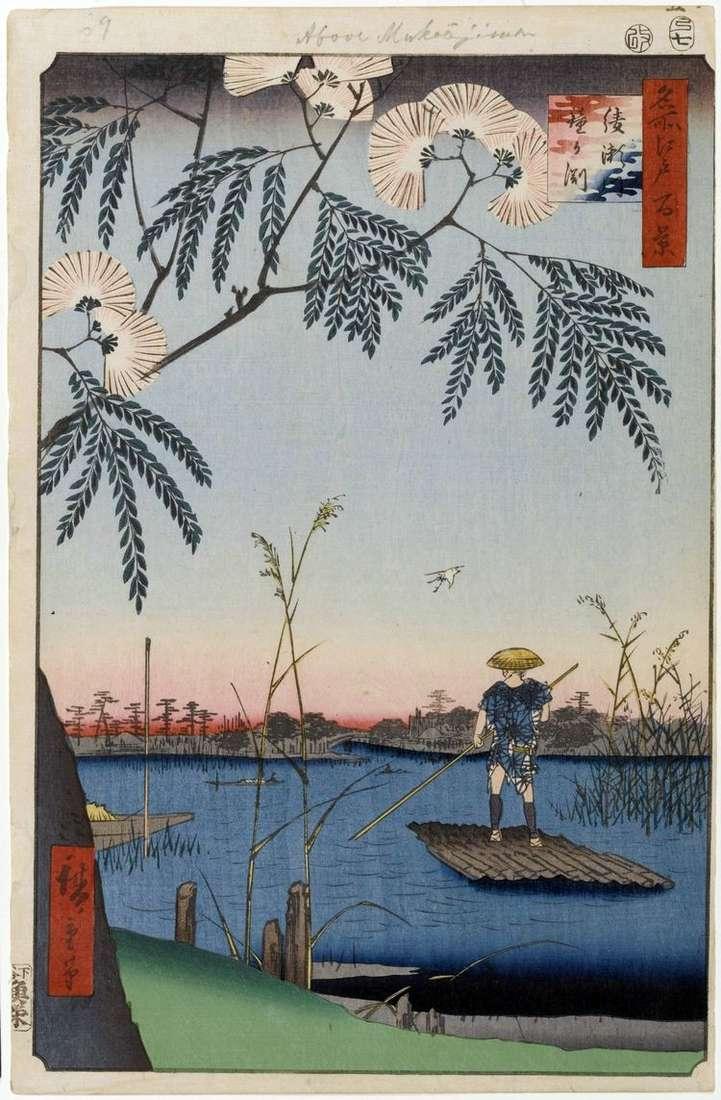 Река Аясэгава, Пучина Колокола   Утагава Хиросигэ