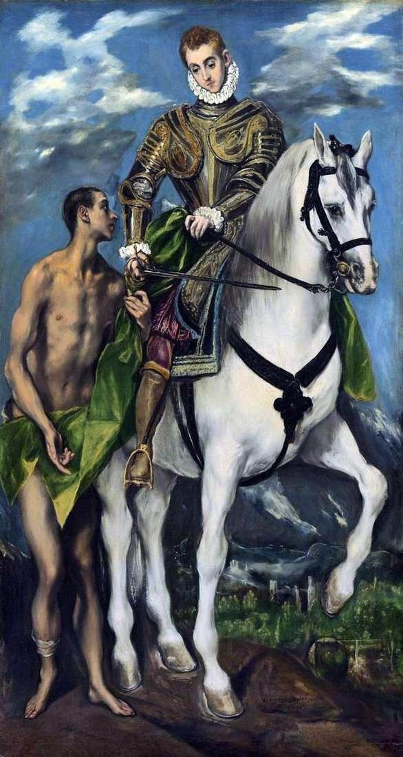 Святой Мартин и нищий   Эль Греко