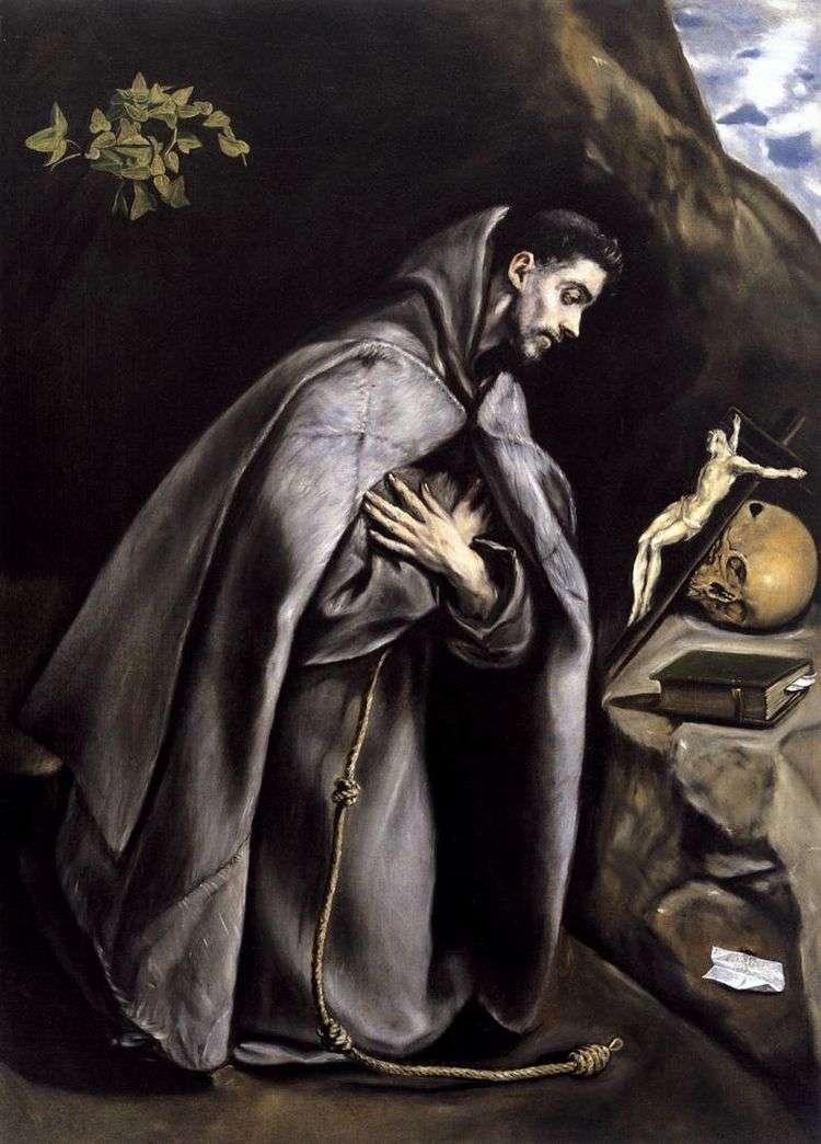 Святой Франциск в экстазе   Эль Греко