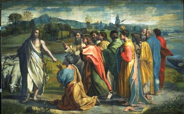 Призвание апостола Петра Христом   Рафаэль Санти