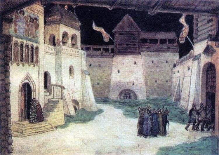 Площадь в осажденном Китеже   Аполлинарий Васнецов