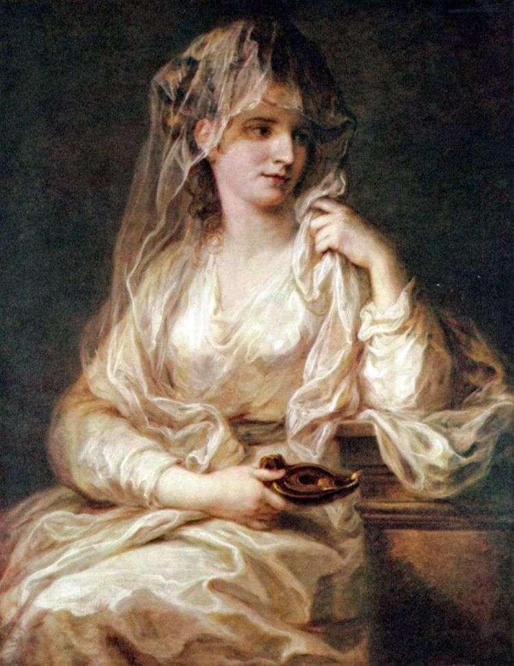 Портрет дамы в одеянии весталки   Ангелика Кауфман
