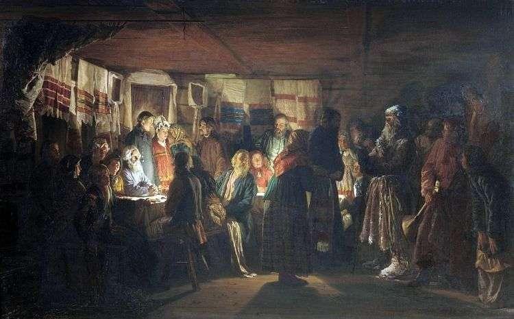 Приход колдуна на крестьянскую свадьбу   Василий Максимов