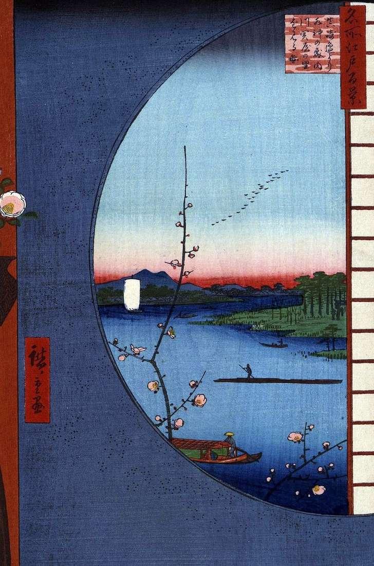 Святилище Массаки на реке Утигава, деревня Сэкия но сато и святилище Суйлзин но мори