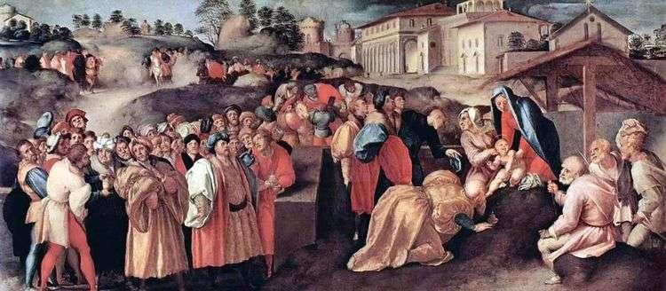 Поклонение волхвов   Якопо Понтормо