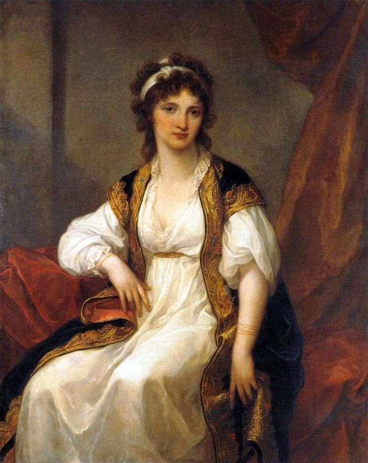 Портрет молодой женщины   Ангелика Кауфман