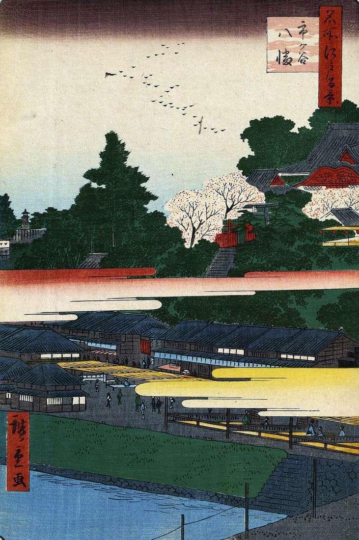 Святилище Хатиман в Итигая   Утагава Хиросигэ