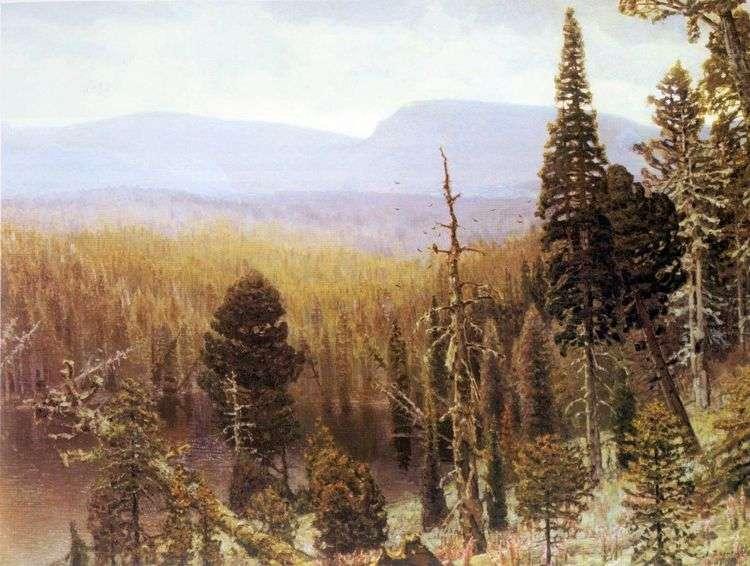 Тайга на Урале. Синяя гора   Аполлинарий Васнецов