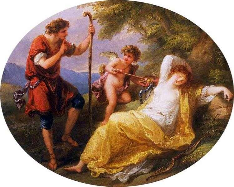 Спящая нимфа и пастух   Ангелика Кауфман