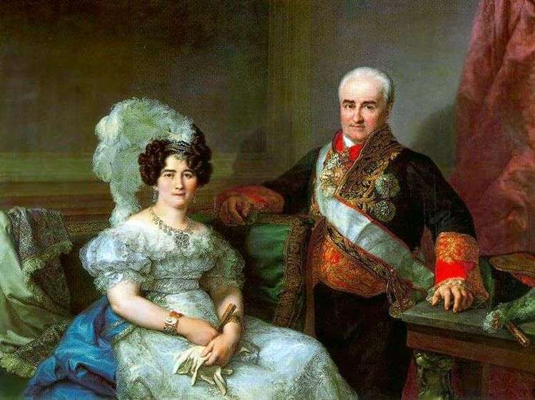 Портрет Антонио Угарте и его жены   Лопес Портана