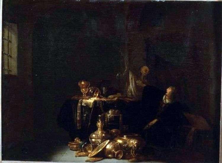 Ростовщица и смерть   Виллем де Портер