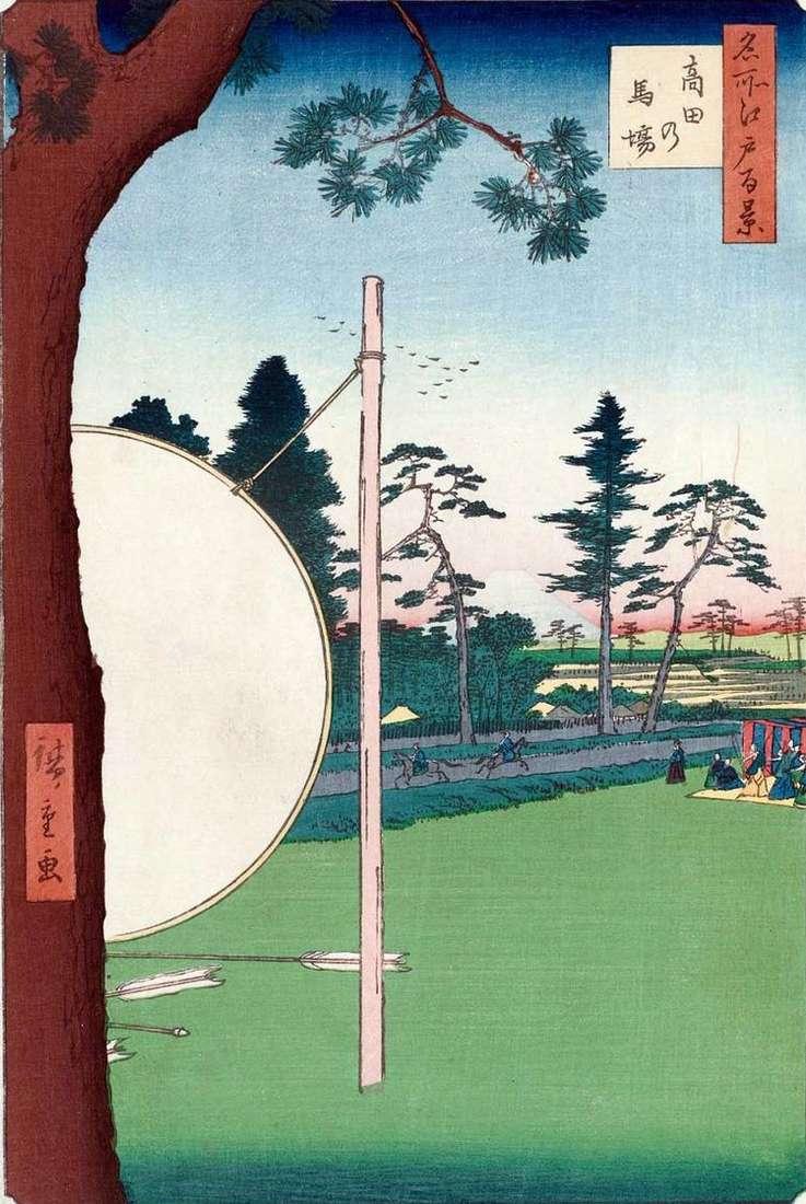 Такала но баба   скаковой круг   Утагава Хиросигэ