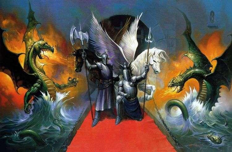 Драконы и рыцари   Кен Келли