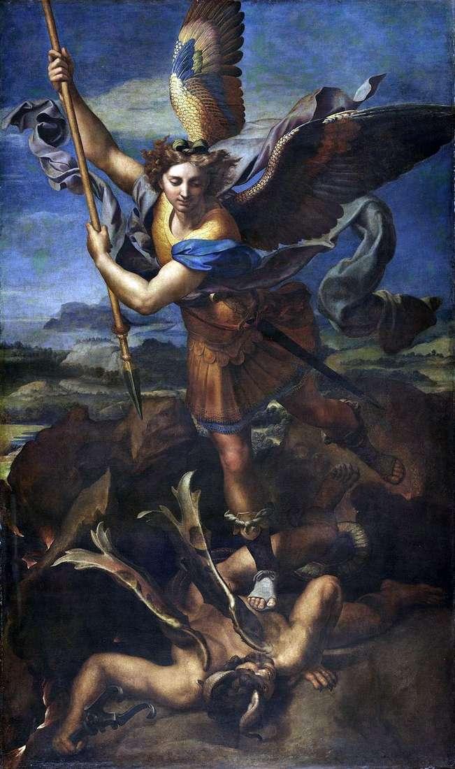 Святой Михаил и Дьявол   Рафаэль Санти