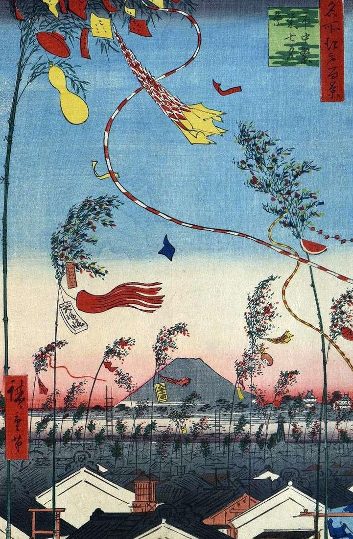 Украшенный город, праздник Танабата&;;lt;   Утагава Хиросигэ