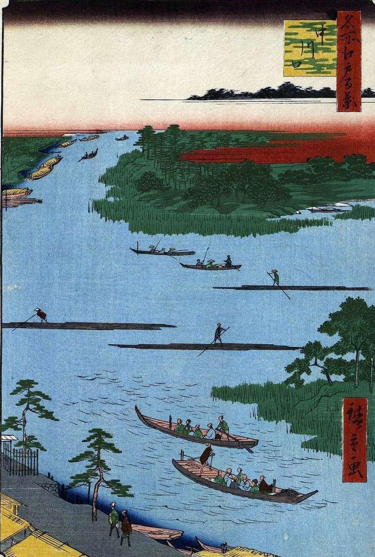 Устье реки Накагава   Утагава Хиросигэ