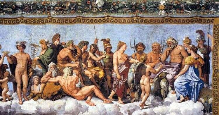 Торжество Психеи на Олимпе (фреска)   Рафаэль Санти