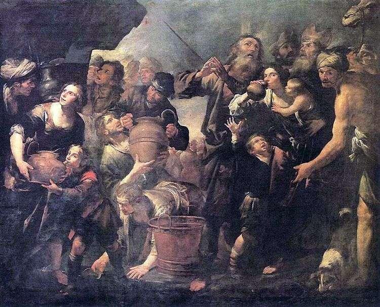 Моисей, добывающий воду из скалы   Джоаккино Ассерето