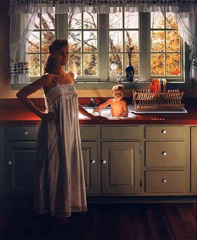 Нэнни и Эзра на кухне   Скотт Прайор