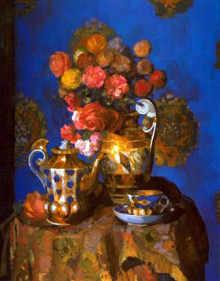 Натюрморт с цветами   Н. Н. Сапунов